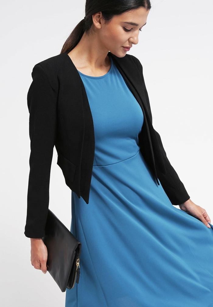 blaues kleid farbgestaltung blaue kleider  dessin seide sportlich elgant