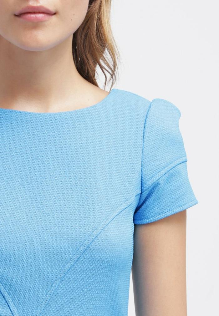 blaues kleid farbgestaltung blaue  kleider dessin seide sportlich hell blau mah
