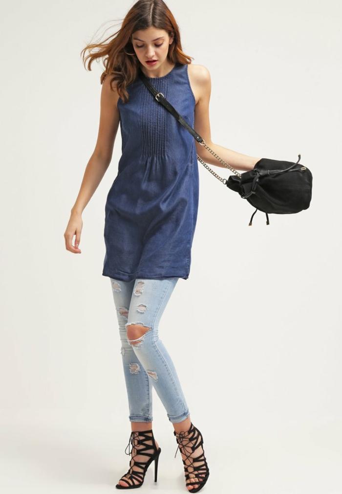 blaues kleid farbgestaltung blaue kleider dessin  seide sportlich wild