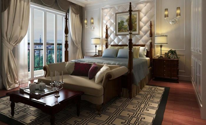 Blickdichte Gardinen Schlafzimmer Luxuriöse Vorhänge Geometrischer Teppich