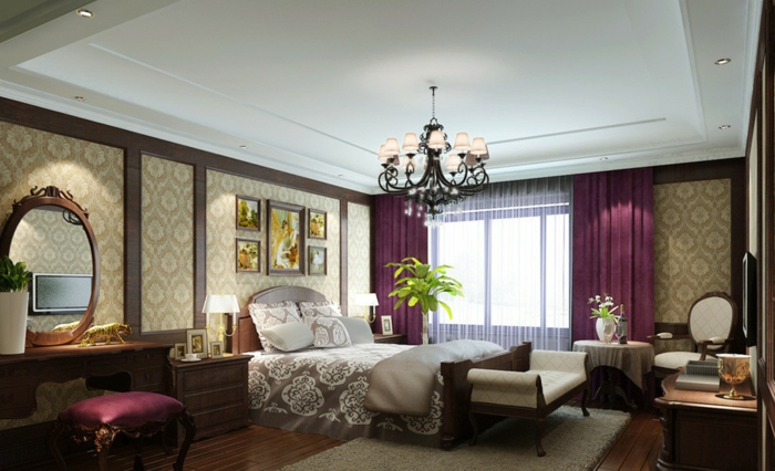 wohnideen schlafzimmer lila ? modernise.info - Schlafzimmer Lila Braun