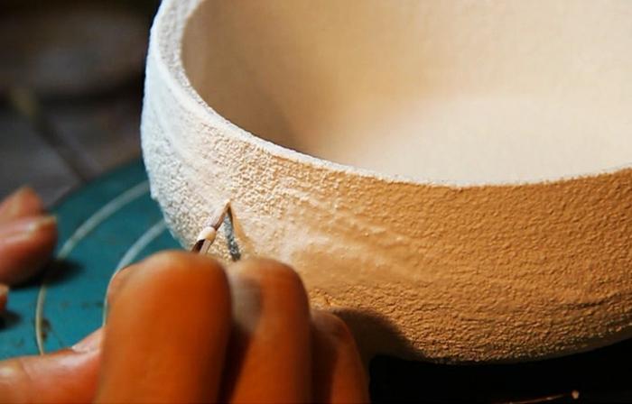 bonsai baum air fliegend basis porzellan hand gemacht gemalt