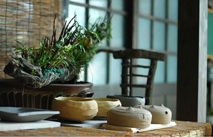 bonsai baum air fliegend porzellan basis japan