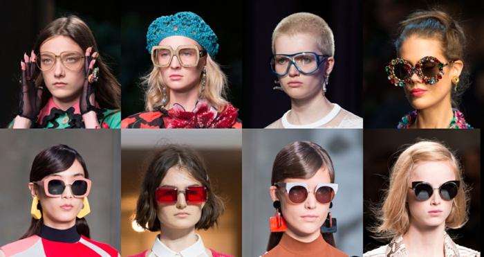 modische brillen aktuelle tendenzen milano fashion week