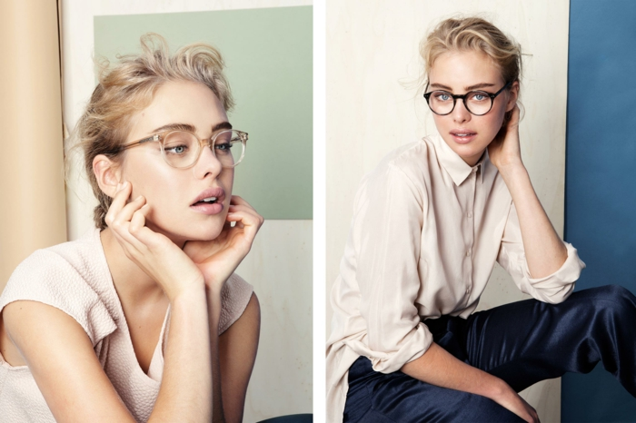 modische brillen aktuelle tendenzen passend zum schmalen gesicht