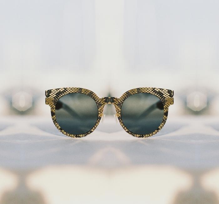 brillenmode modische brillen aktuelle tendenzen schlangenhaut