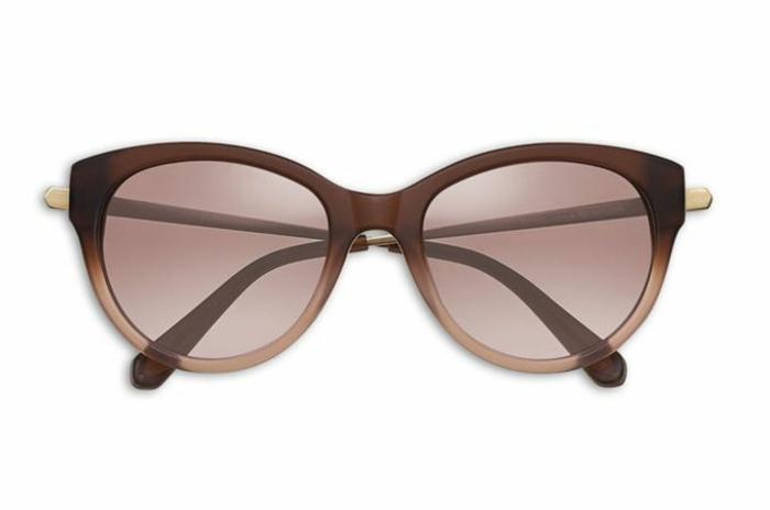 brillenmode modische brillen aktuelle tendenzen stark braun lila