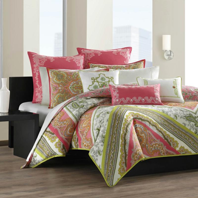 bunte Bettwäsche Blumen bügelfrei Schlafzimmer Ideen