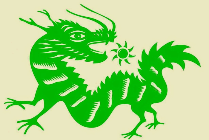 chinesische sternzeichen der feurige affe asia rot chinesisches horoskop dreache gruen