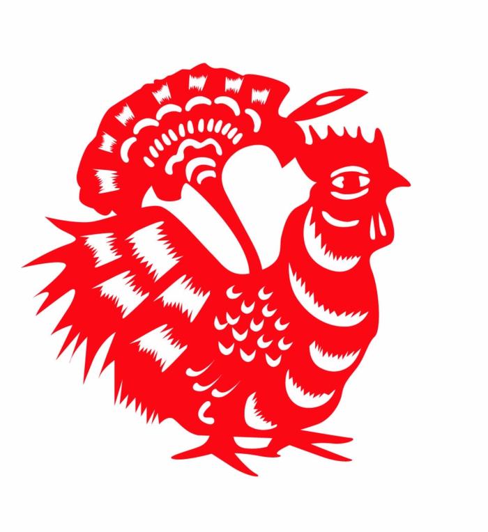 chinesische sternzeichen der feurige affe asia rot chinesisches horoskop hahn