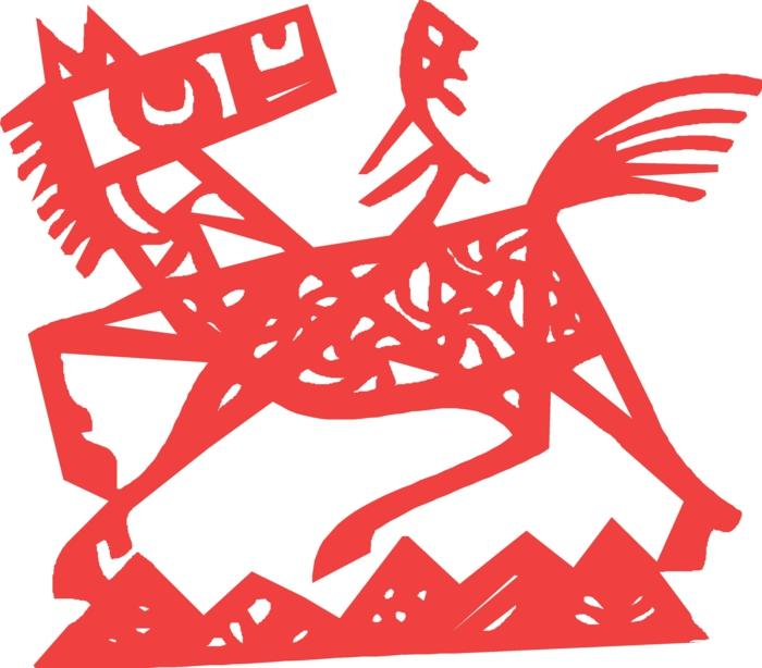 chinesische sternzeichen der feurige affe asia rot chinesisches horoskop pferd