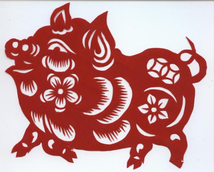 sternzeichen der feurige affe asia rot chinesisches horoskop schwein