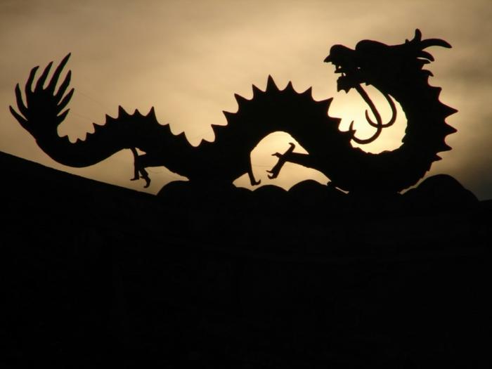chinesische sternzeichen der feurige affe asia rot chinesisches horoskop schwrzer drache