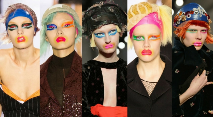 clown schminken haute couture make up john galliano maison margiela