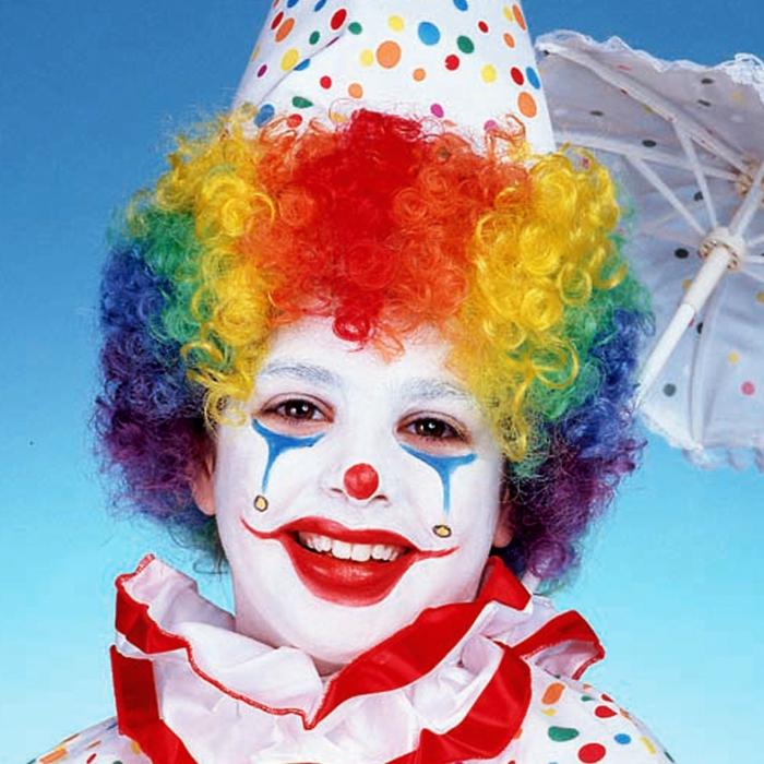 lustiger clown schminken
