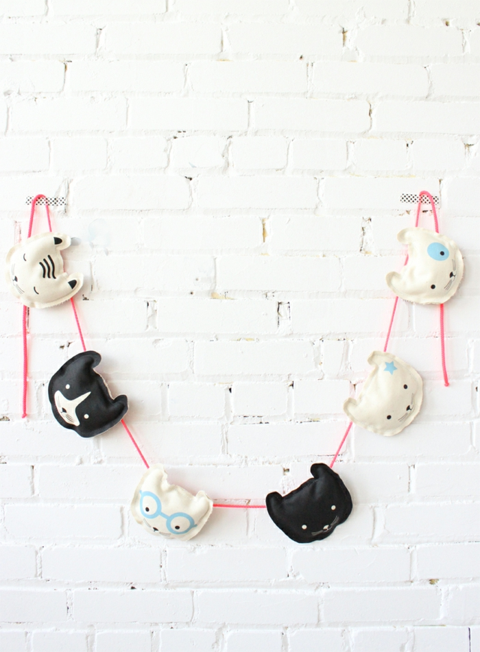 deko ideen selber machen dekogirlande kinderzimmer dekorieren