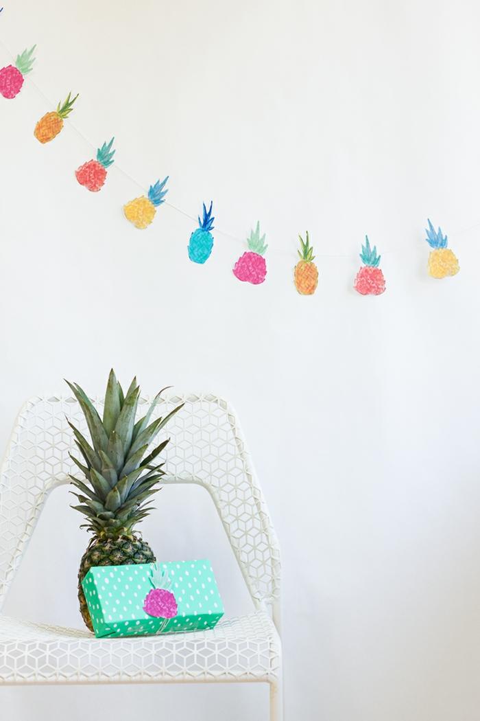 deko ideen selber machen girlande früchte wanddeko