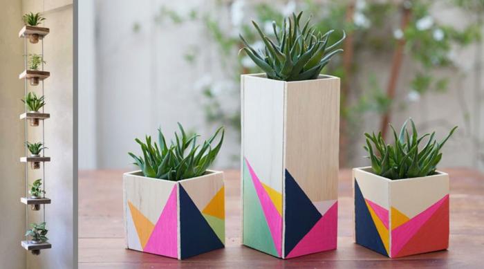 Kabeltrommel Holz Dekorieren ~   übertöpfe holz pflanzkübel selber machen dekorieren farben