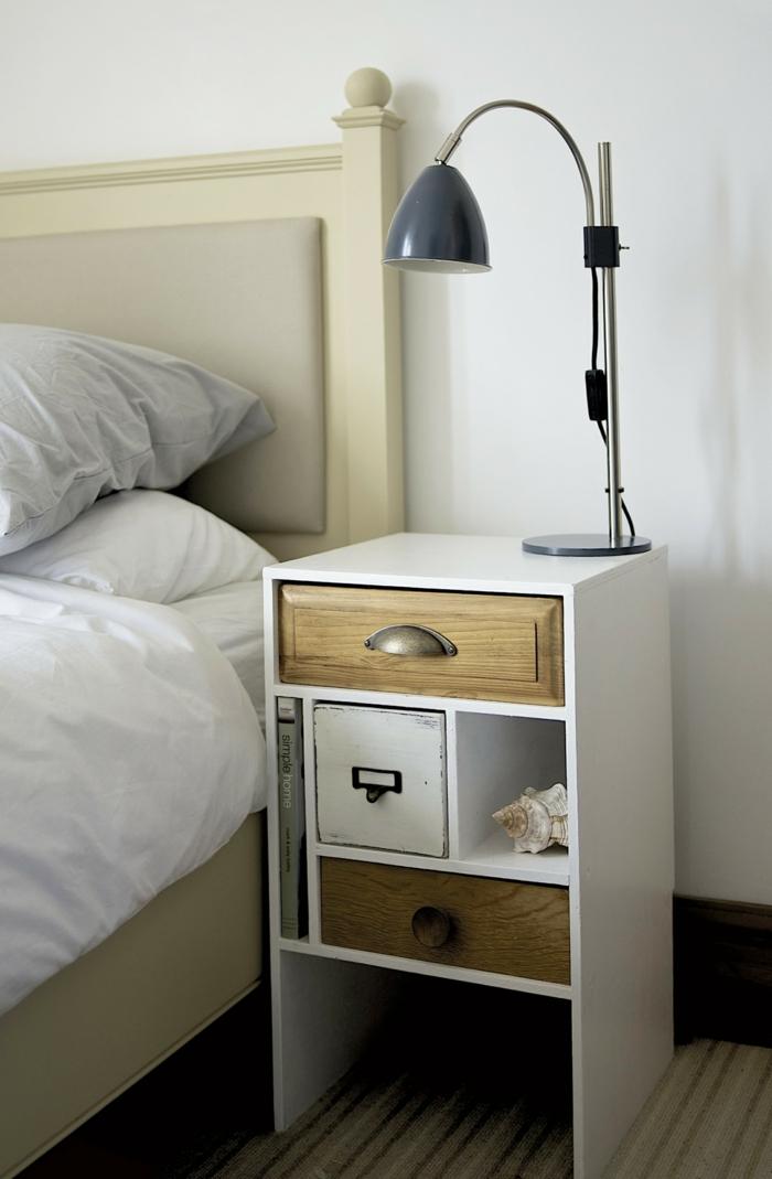 diy ideen kreative wohnideen schlafzimmer nachttisch