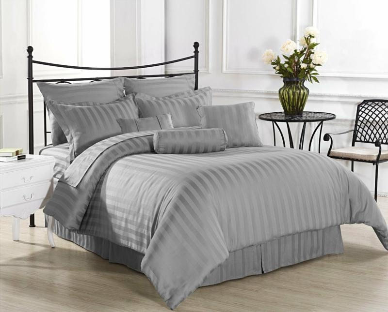 einfarbige Bettwäsche grau Battlaken