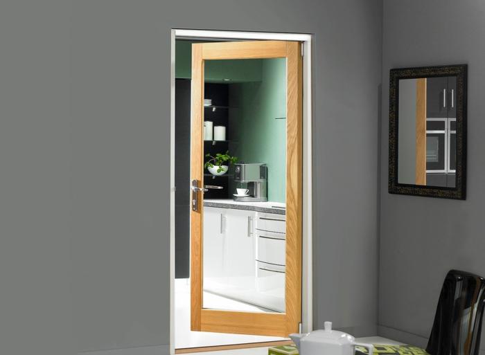 einrichtungsideen innentür glas modern
