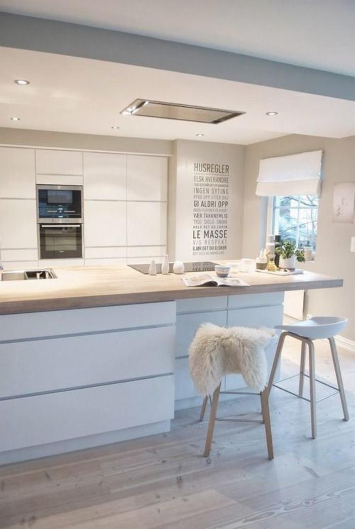 einrichtungsideen küche einrichtungstipps barhocker bartheke einbauleuchten beleuchtung modern wohnen