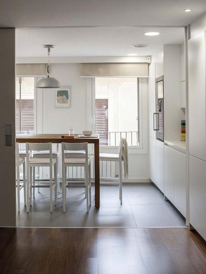 einrichtungsideen küche einrichtungstipps barhocker bartheke esstisch hoch moderne kueche