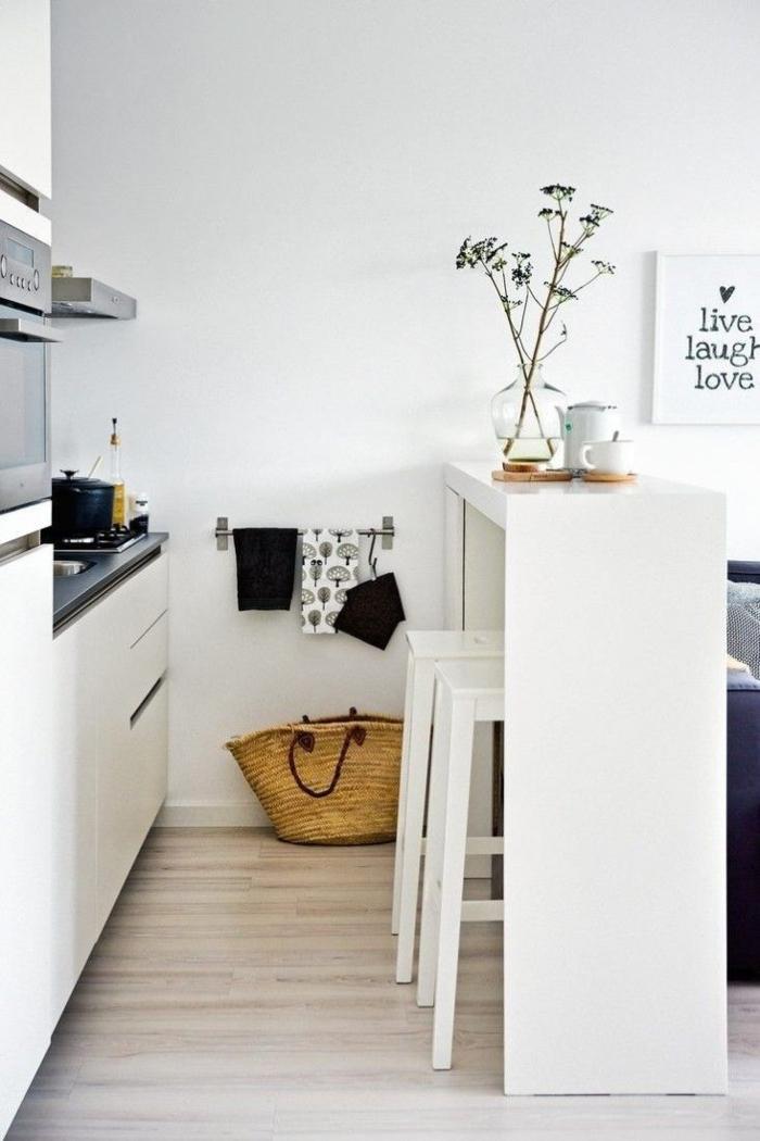 einrichtungsideen küche einrichtungstipps esstisch barhocker weiß hochglanz