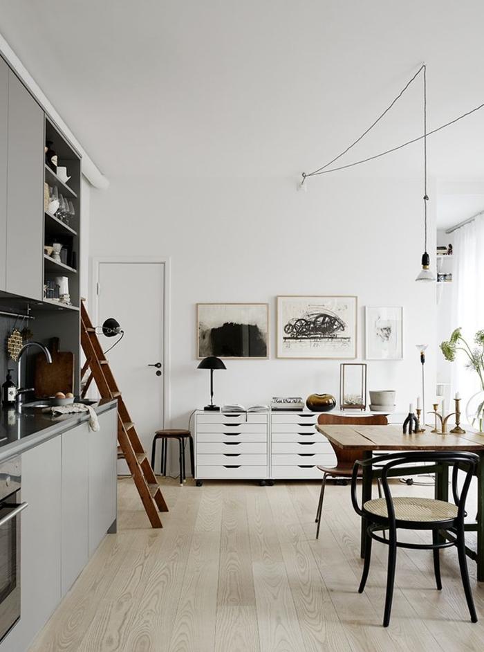 einrichtungsideen küche einrichtungstipps esstisch retro stühle vintage wohnstil skandinavisches design