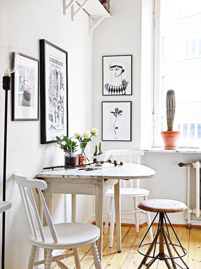 einrichtungsideen küche einrichtungstipps esstisch stühle vintage kueche wohnideen