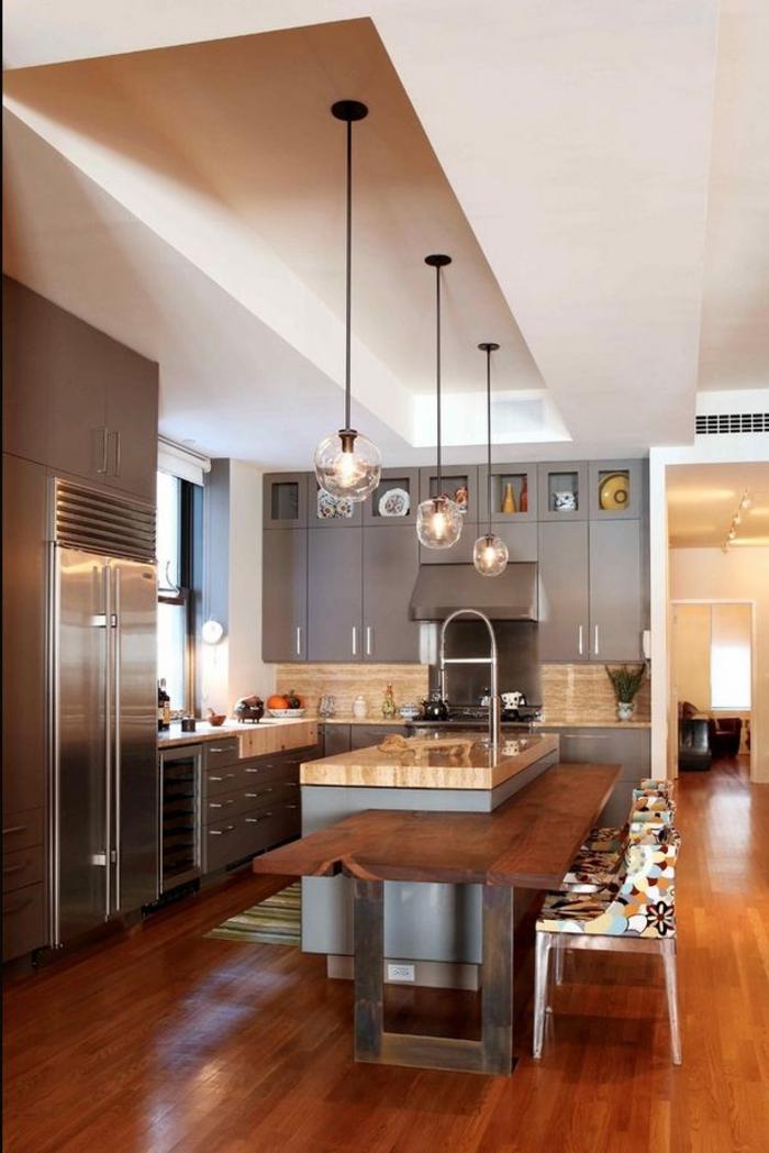 einrichtungsideen kueche bartheke barhocker esstisch essbereich moderne kücheneinrichtung
