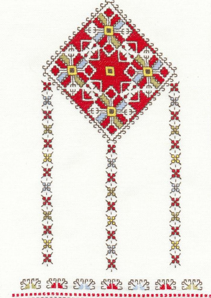 kleidung ethno mode ethno muster Stickerei valentino-mode tracht ethno schal rücken muster