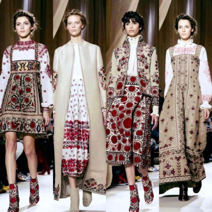 Faszinierende Ethno Kleidung und bulgarische Stickereien