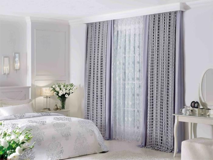 46 blickdichte gardinen mit dekorativem und schutzeffekt for Gardinen im schlafzimmer