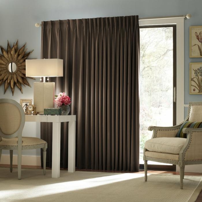 46 blickdichte gardinen mit dekorativem und schutzeffekt for Gardinen braun