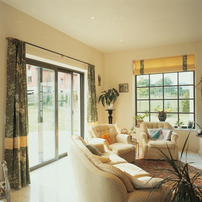 Gardinen Blickdicht Wohnzimmer Einrichtungsideen Helle Mbel Pflanzen