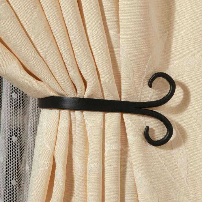 51 individuelle gardinenhalter die jeden geschmack treffen. Black Bedroom Furniture Sets. Home Design Ideas