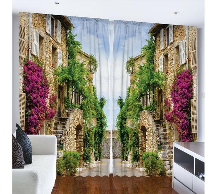 gardinenstoffe vorhangstoffe vorhänge 3d fotomotiv wohnzimmer