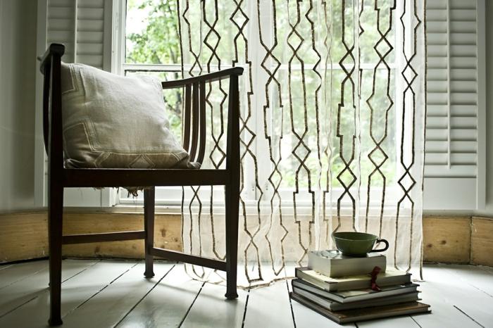 gardinenstoffe vorhangstoffe vorhänge durchsichtig geometrische muster
