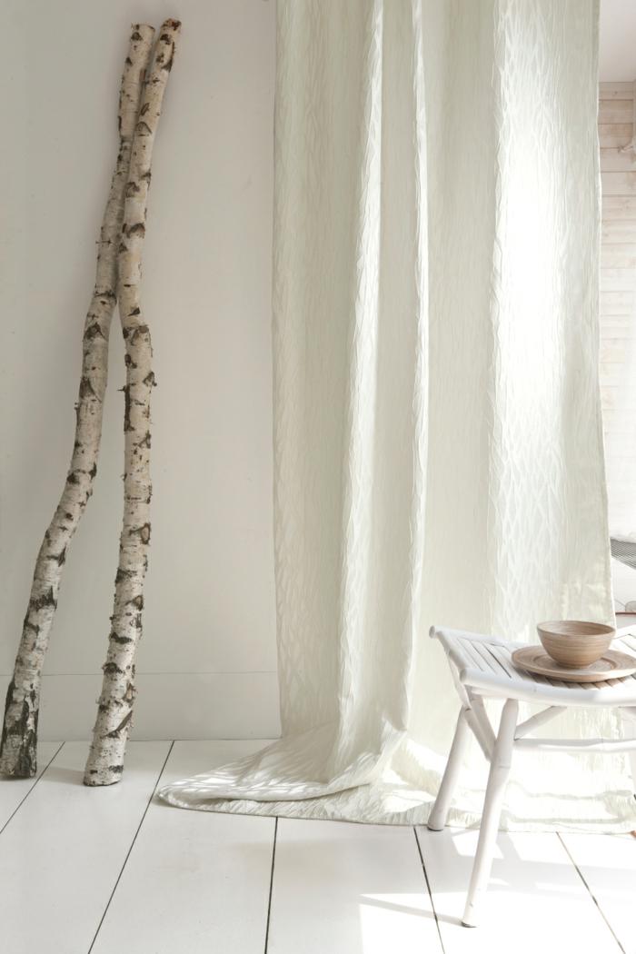 gardinenstoffe vorhangstoffe vorhänge leinen baumwolle viskose weiß puristisch
