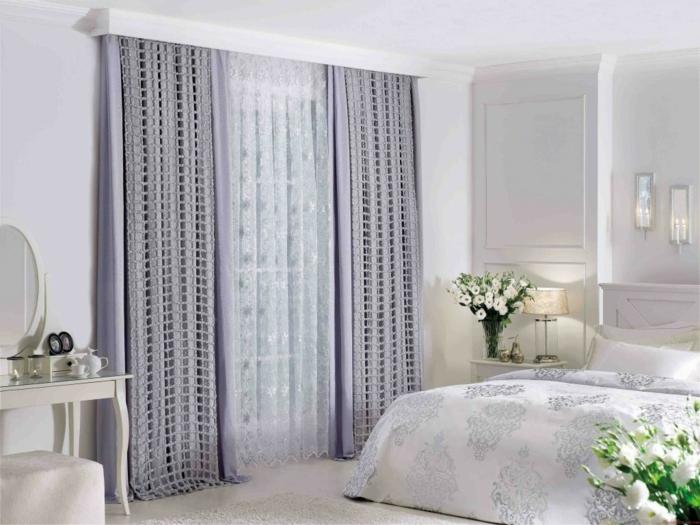 gardinenstoffe vorhangstoffe vorhänge spitze feine heimtextilien lila farbe