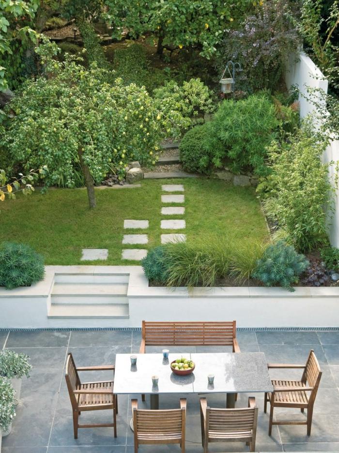 110 garten gestalten ideen in city style wie sie den au enbereich verwandeln - Amenagement jardin petite surface ...