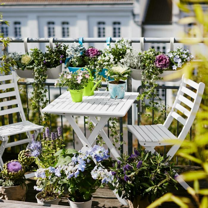 garten gestalten ideen kleiner garten kleiner balkon klappbare balkonmöbel