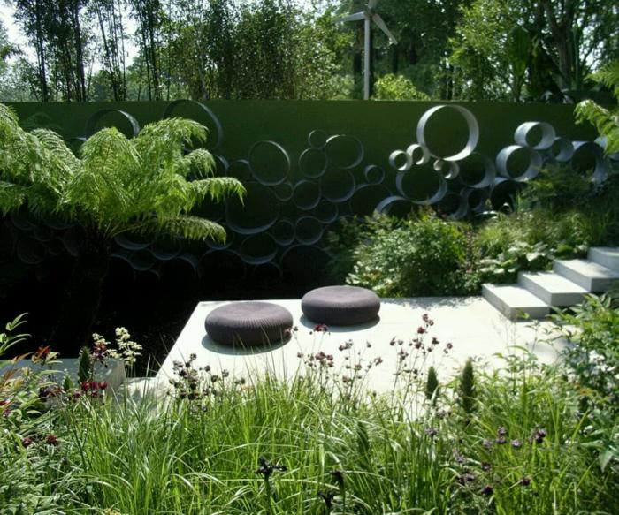 garten gestaltung gartentreppen außenmöbel pflanzen