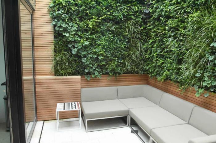 gartengestaltung ideen city style ecksofa pflanzen