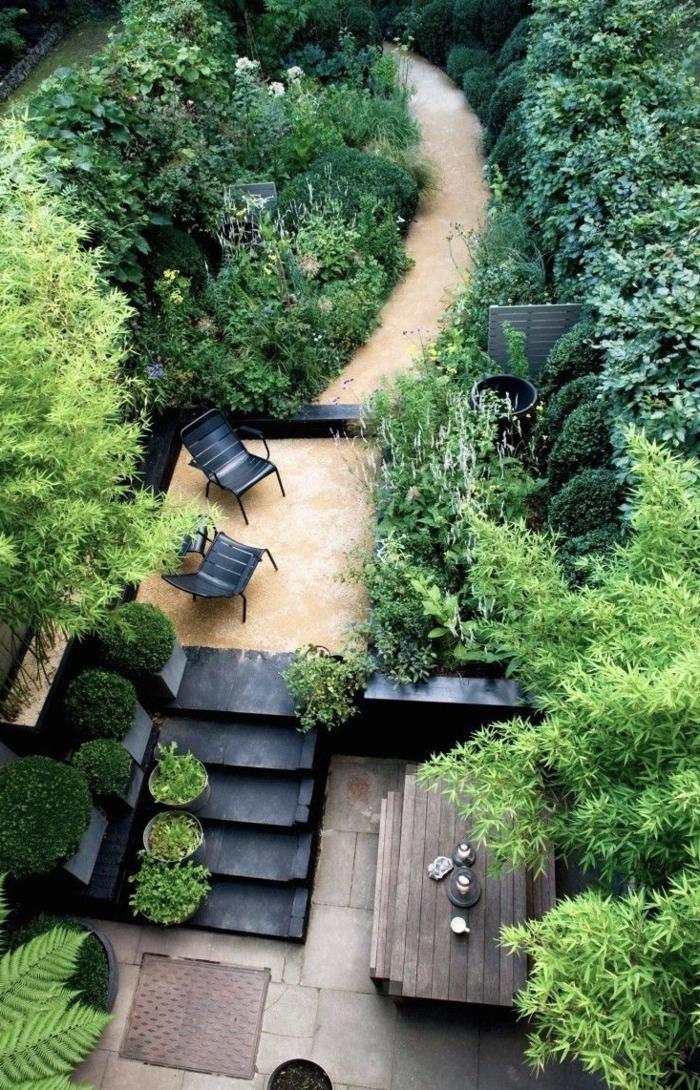 gartengestaltung ideen city style gartentreppen pflanzenkübel