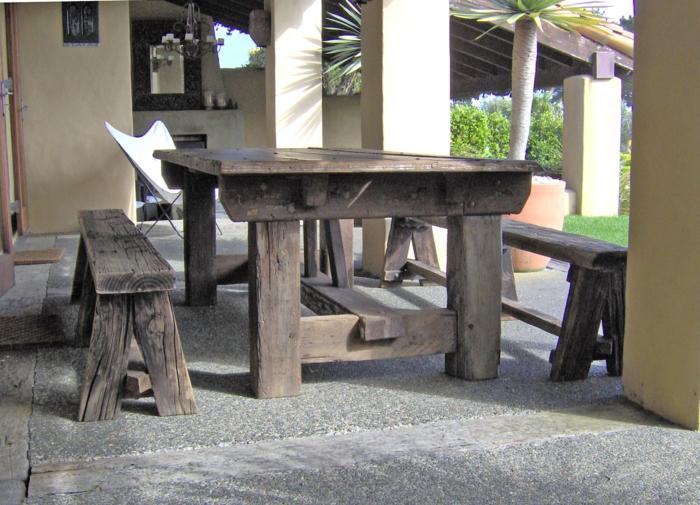 Gartentisch Rustikal 50 gartentisch designs und arrangements für einen modernen und