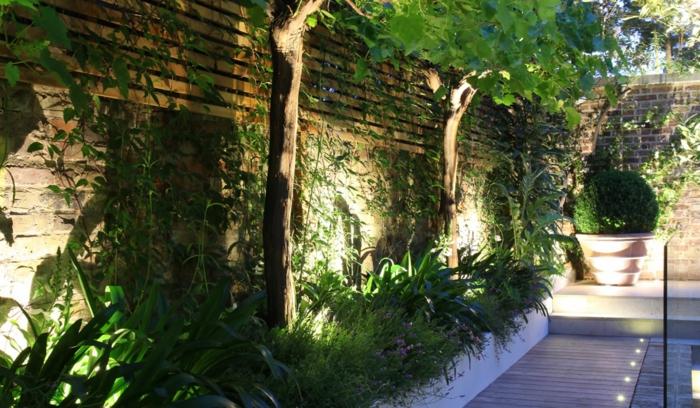 gartengestaltung ideen gartenpflanzen gartenbeleuchtung gartenzaun