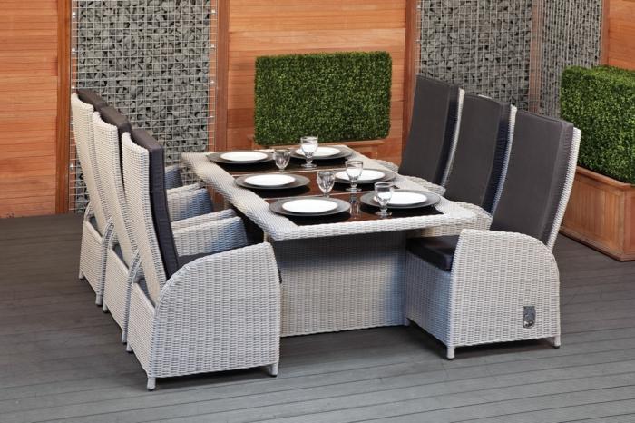 50 Gartentisch Designs und Arrangements für einen modernen und ...