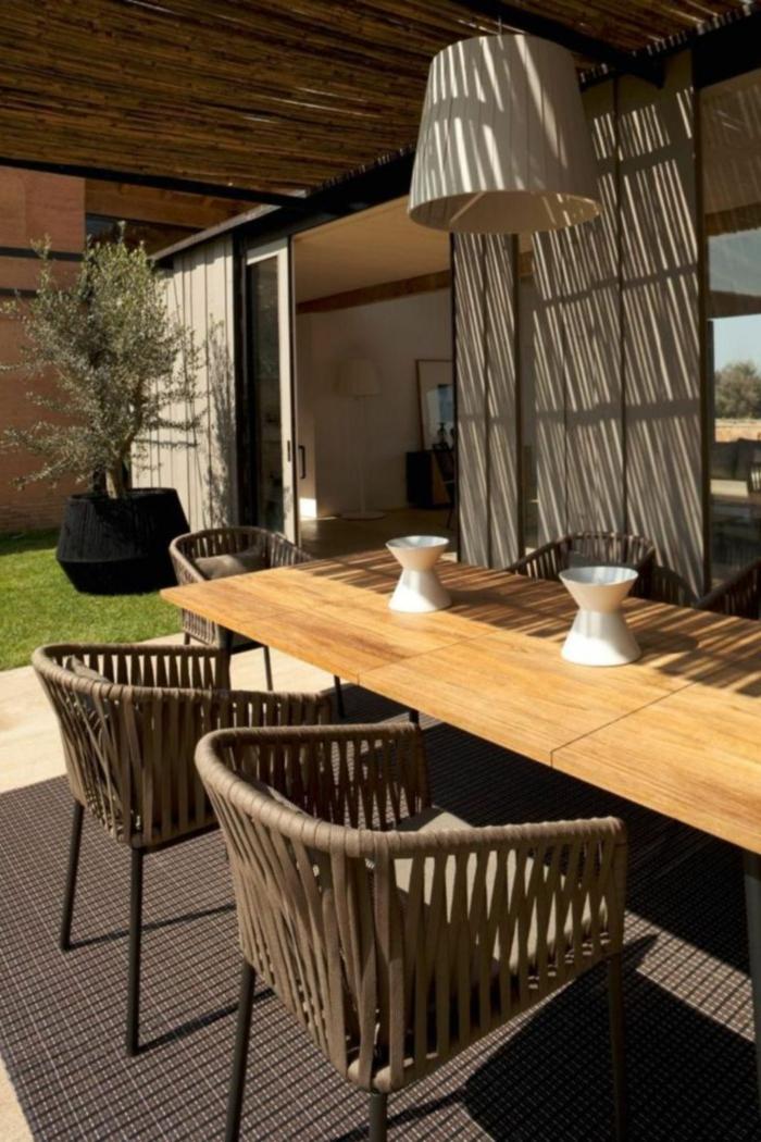 50 gartentisch designs und arrangements f r einen modernen und gesunden lebensstil - Gartentisch design ...